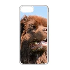 Newfie Brown Apple iPhone 7 Plus White Seamless Case