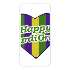 Happy Mardi Gras Logo Apple Seamless iPhone 6 Plus/6S Plus Case (Transparent)