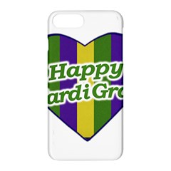 Happy Mardi Gras Logo Apple Iphone 7 Plus Hardshell Case