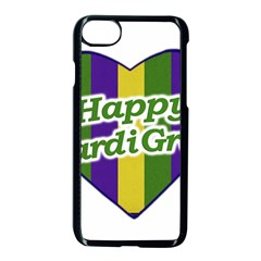 Happy Mardi Gras Logo Apple Iphone 7 Seamless Case (black)