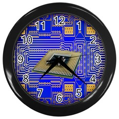 Processor Cpu Board Circuits Wall Clocks (black)