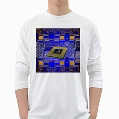 Processor Cpu Board Circuits White Long Sleeve T-Shirts
