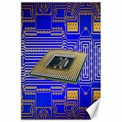 Processor Cpu Board Circuits Canvas 20  x 30