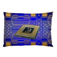 Processor Cpu Board Circuits Pillow Case