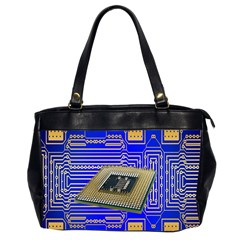Processor Cpu Board Circuits Office Handbags (2 Sides)