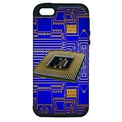 Processor Cpu Board Circuits Apple iPhone 5 Hardshell Case (PC+Silicone)