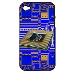 Processor Cpu Board Circuits Apple iPhone 4/4S Hardshell Case (PC+Silicone)