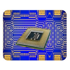 Processor Cpu Board Circuits Double Sided Flano Blanket (Large)