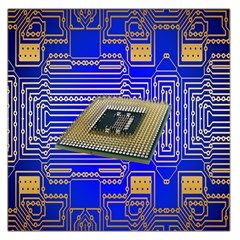 Processor Cpu Board Circuits Large Satin Scarf (Square)