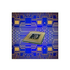 Processor Cpu Board Circuits Satin Bandana Scarf