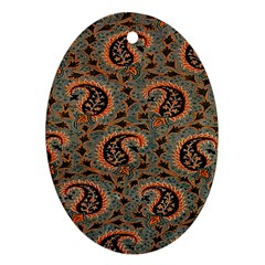 Persian Silk Brocade Ornament (Oval)