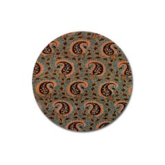 Persian Silk Brocade Magnet 3  (Round)