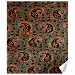 Persian Silk Brocade Canvas 8  X 10
