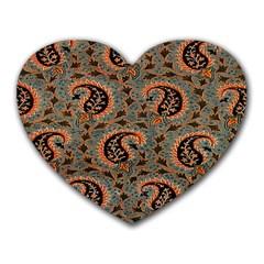 Persian Silk Brocade Heart Mousepads