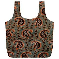 Persian Silk Brocade Full Print Recycle Bags (l)