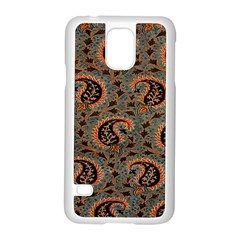 Persian Silk Brocade Samsung Galaxy S5 Case (White)