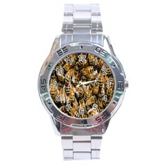 Honey Bee Water Buckfast Stainless Steel Analogue Watch