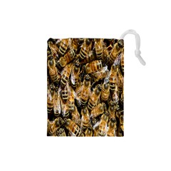 Honey Bee Water Buckfast Drawstring Pouches (Small)