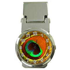 Peacock Feather Eye Money Clip Watches