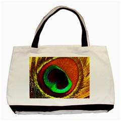 Peacock Feather Eye Basic Tote Bag