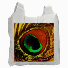 Peacock Feather Eye Recycle Bag (Two Side)