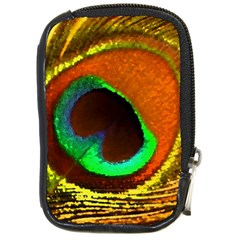 Peacock Feather Eye Compact Camera Cases