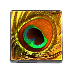 Peacock Feather Eye Memory Card Reader (Square)