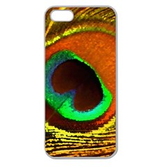 Peacock Feather Eye Apple Seamless iPhone 5 Case (Clear)