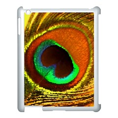Peacock Feather Eye Apple iPad 3/4 Case (White)