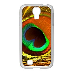 Peacock Feather Eye Samsung Galaxy S4 I9500/ I9505 Case (white)