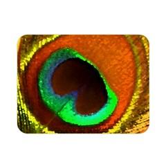 Peacock Feather Eye Double Sided Flano Blanket (Mini)