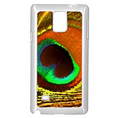Peacock Feather Eye Samsung Galaxy Note 4 Case (White)