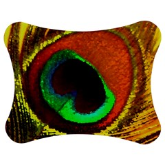 Peacock Feather Eye Jigsaw Puzzle Photo Stand (Bow)
