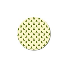 Leaf Pattern Green Wallpaper Tea Golf Ball Marker (10 pack)