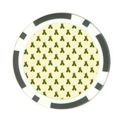 Leaf Pattern Green Wallpaper Tea Poker Chip Card Guard (10 pack)