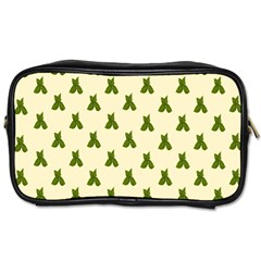Leaf Pattern Green Wallpaper Tea Toiletries Bags 2-Side