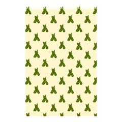 Leaf Pattern Green Wallpaper Tea Shower Curtain 48  x 72  (Small)