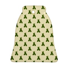 Leaf Pattern Green Wallpaper Tea Bell Ornament (Two Sides)