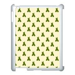 Leaf Pattern Green Wallpaper Tea Apple iPad 3/4 Case (White)