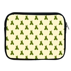 Leaf Pattern Green Wallpaper Tea Apple Ipad 2/3/4 Zipper Cases