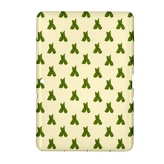 Leaf Pattern Green Wallpaper Tea Samsung Galaxy Tab 2 (10.1 ) P5100 Hardshell Case