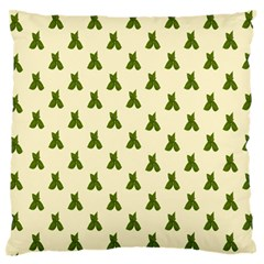 Leaf Pattern Green Wallpaper Tea Standard Flano Cushion Case (two Sides)
