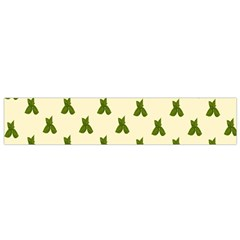 Leaf Pattern Green Wallpaper Tea Flano Scarf (Small)