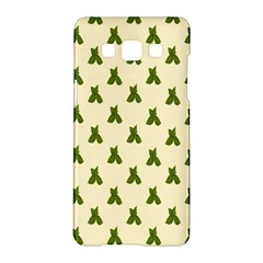 Leaf Pattern Green Wallpaper Tea Samsung Galaxy A5 Hardshell Case