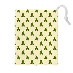 Leaf Pattern Green Wallpaper Tea Drawstring Pouches (Extra Large)