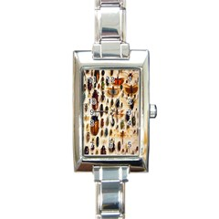 Insect Collection Rectangle Italian Charm Watch