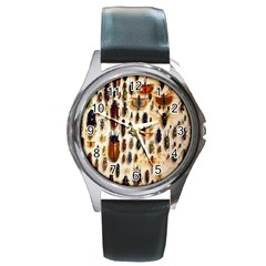 Insect Collection Round Metal Watch