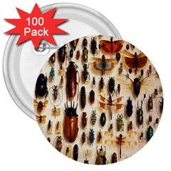 Insect Collection 3  Buttons (100 pack)