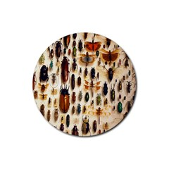Insect Collection Rubber Coaster (round)