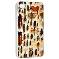 Insect Collection Apple Iphone 4/4s Seamless Case (white)